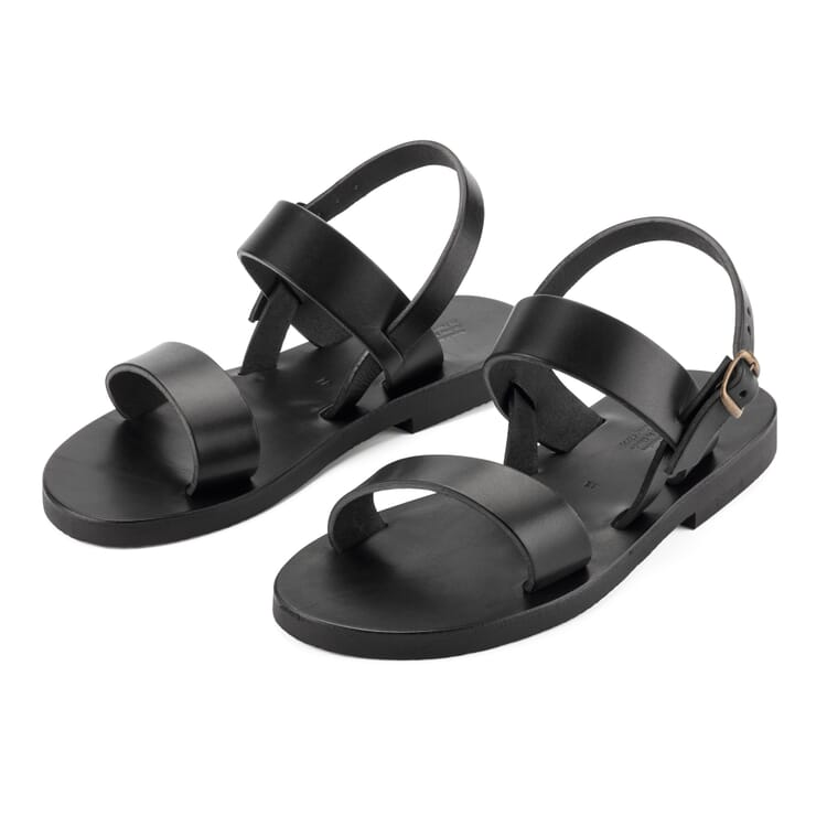 Benedictine Sandals for Men, Black