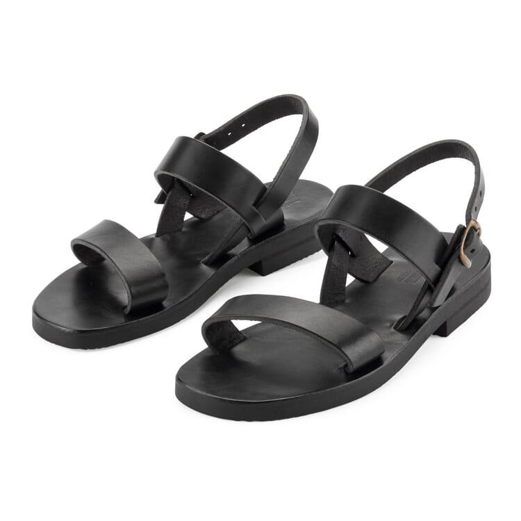 Women's Benedictine Sandals, Black