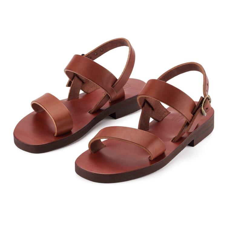 Women's Benedictine Sandals, Brown