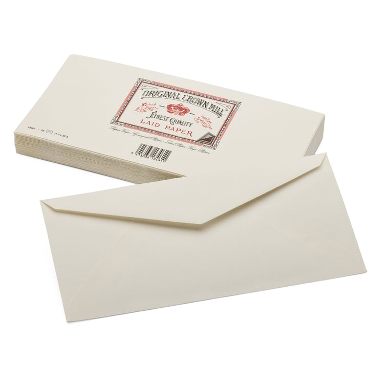 Envelope Long (25 Pieces) Crown Mill Vergé