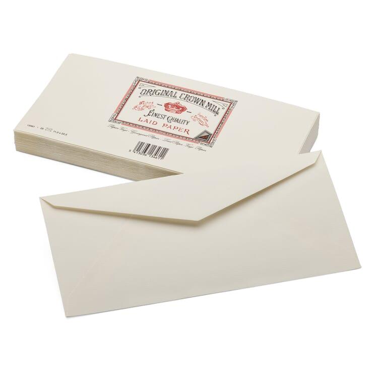 Envelope Long (25 Pieces), Crown Mill Vergé
