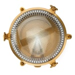 Round Brass Wall and Ceiling Luminaire