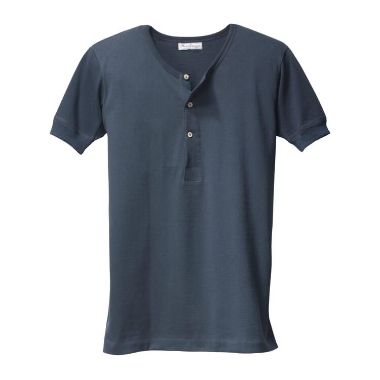 Men's Half-Sleeved T-Shirt Made of Jersey by Merz b. Schwanen, Dark Blue