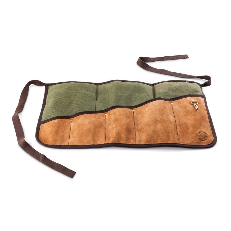Werkzeugschürze Leder mit Segeltuch