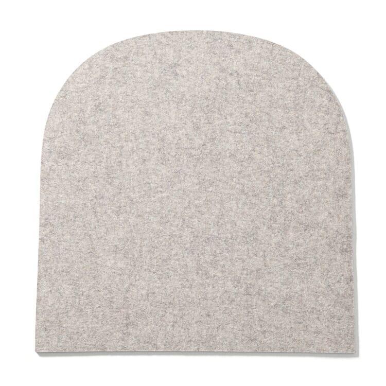Chair Cushion Frankfurt, Mottled Light Grey