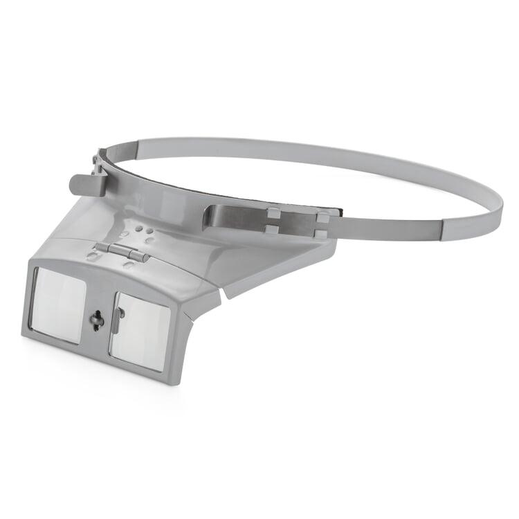 Binokulare Kopfbandlupe mit Glaslinsen