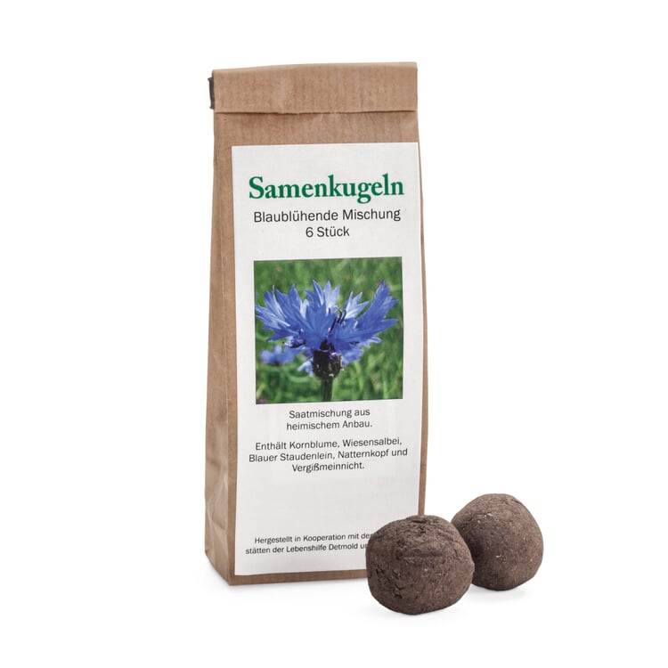 Blumensamen 'Samenkugeln Blaublühend'