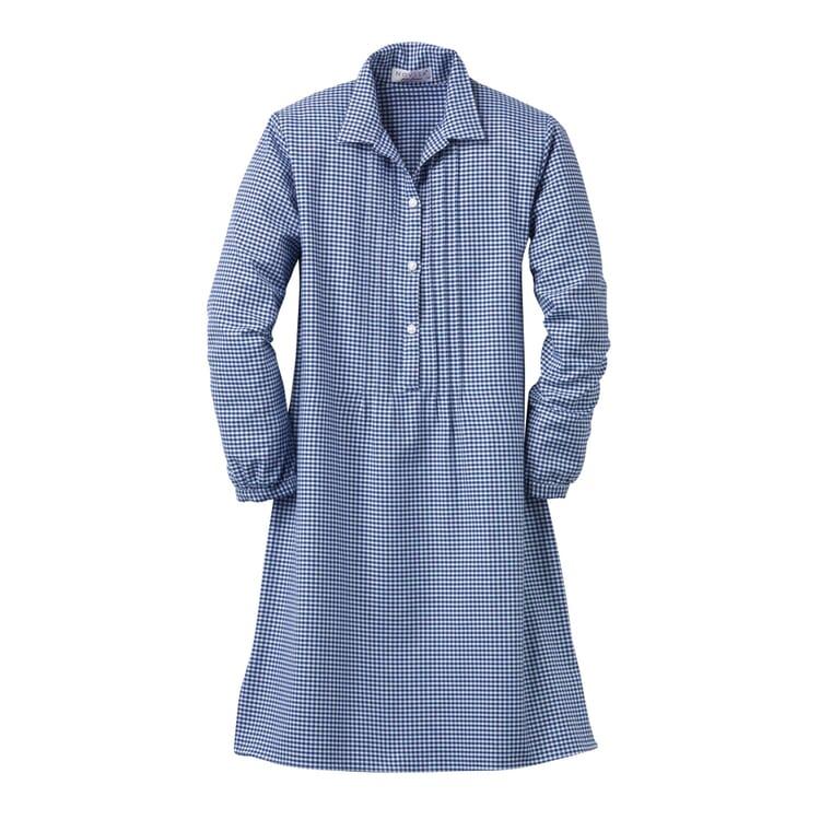 Novila Damennachthemd Flanell, Blau