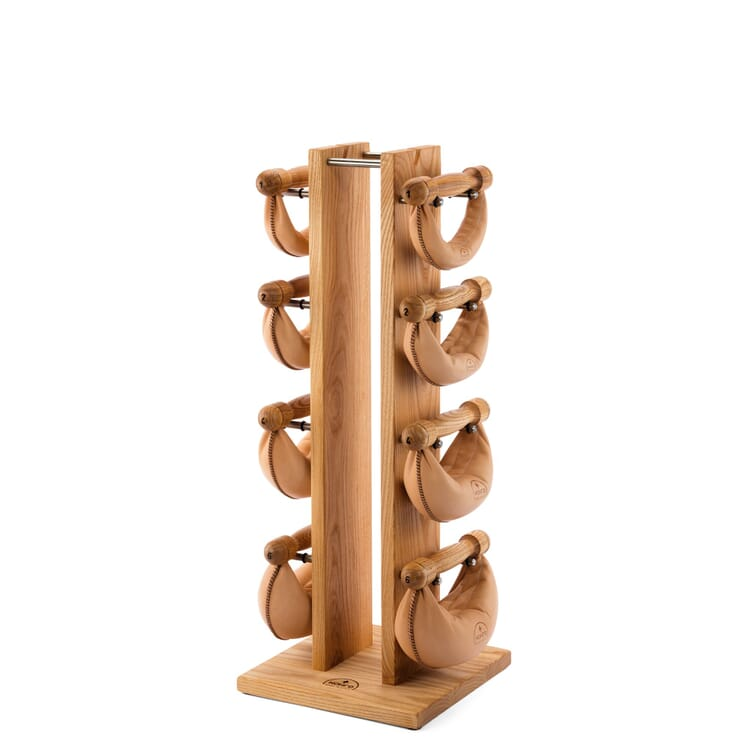 Vertical Dumbbell Rack Made of Wood by Nohrd, Ash Wood