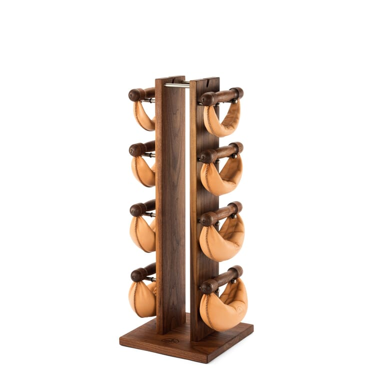 Vertical Dumbbell Rack Made of Wood by Nohrd, Walnut Wood