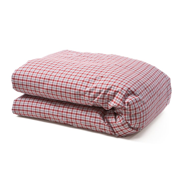 Bärenstein Checked Bed Covers Red 155 × 220 cm