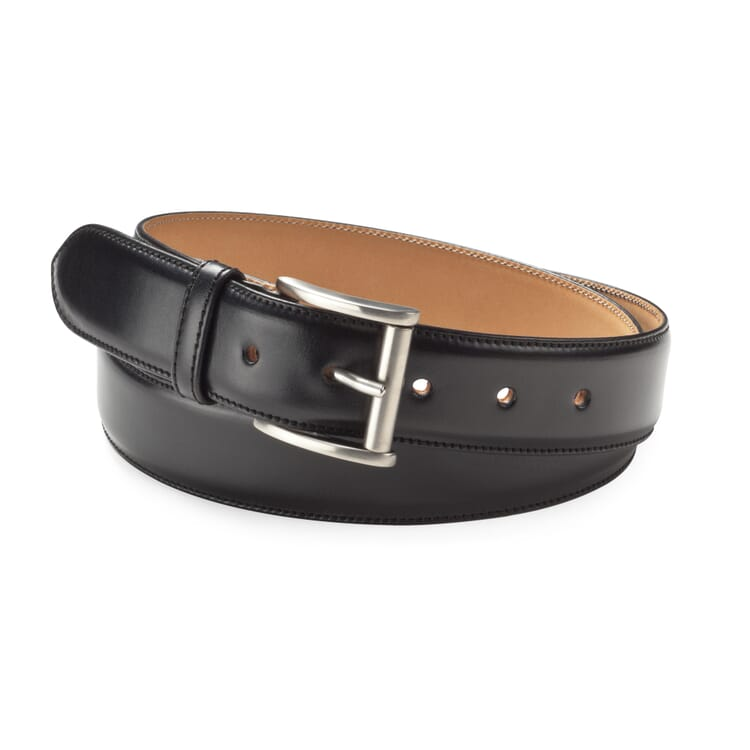 Kreis Three-Layer Cowhide Belt, Black