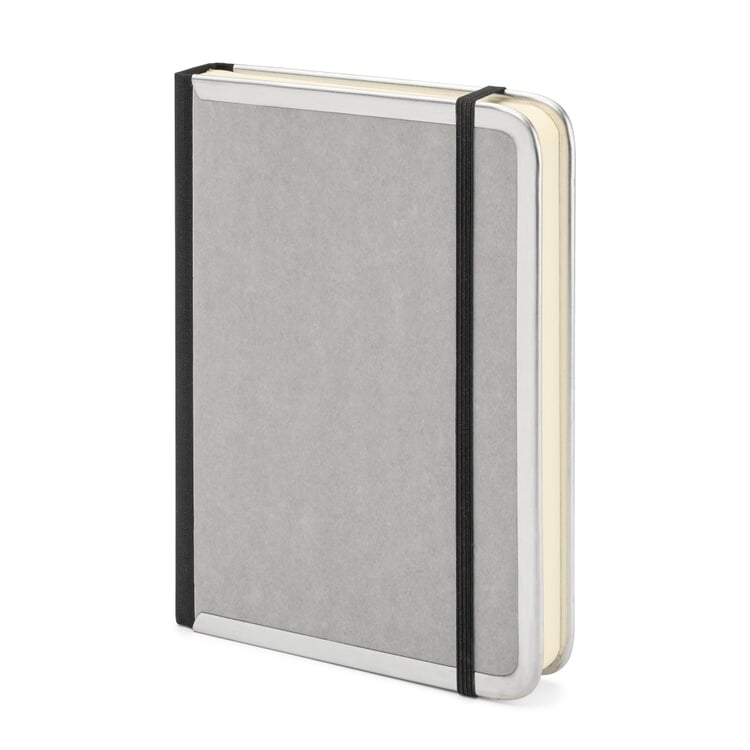 Metal Edged A6 Notebook Blank Grey