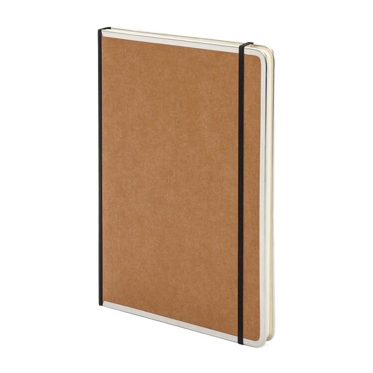 Notizbuch Metallkante A4, Liniert