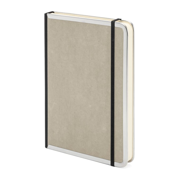 Notizbuch Metallkante A5, Liniert