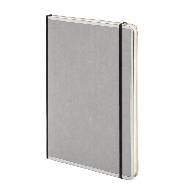 Notizbuch Metallkante A4 Liniert Grau