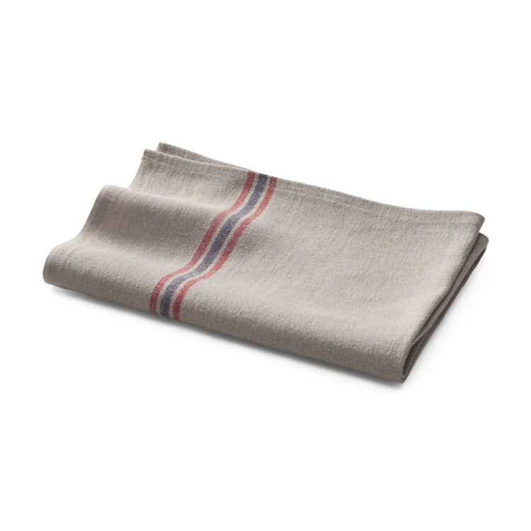 Kitchen Towel Made of Striped Linen