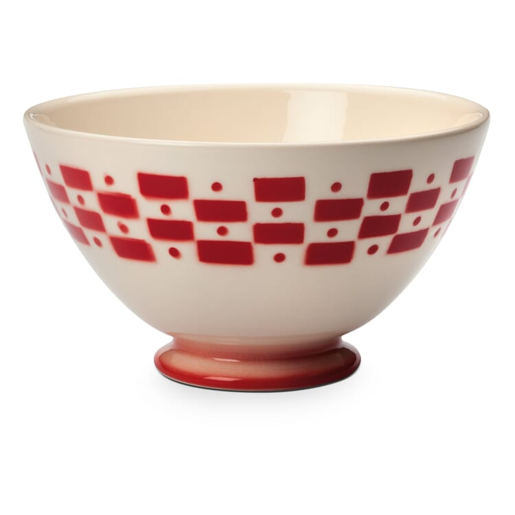 Ceramic Latte Bowl, Red