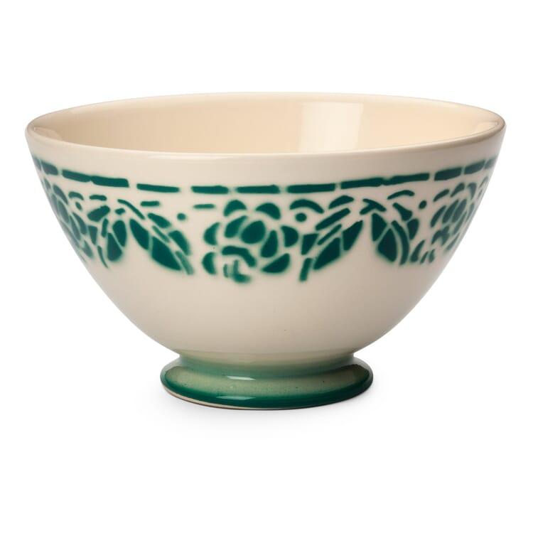 Ceramic Latte Bowl, Forest green