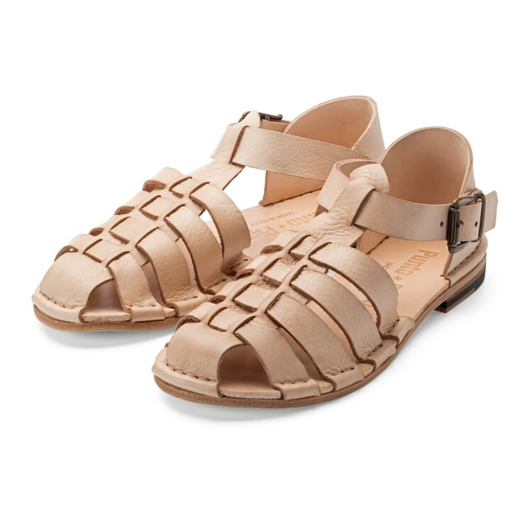 Punto Pigro Women's Leather Sandal, Nature