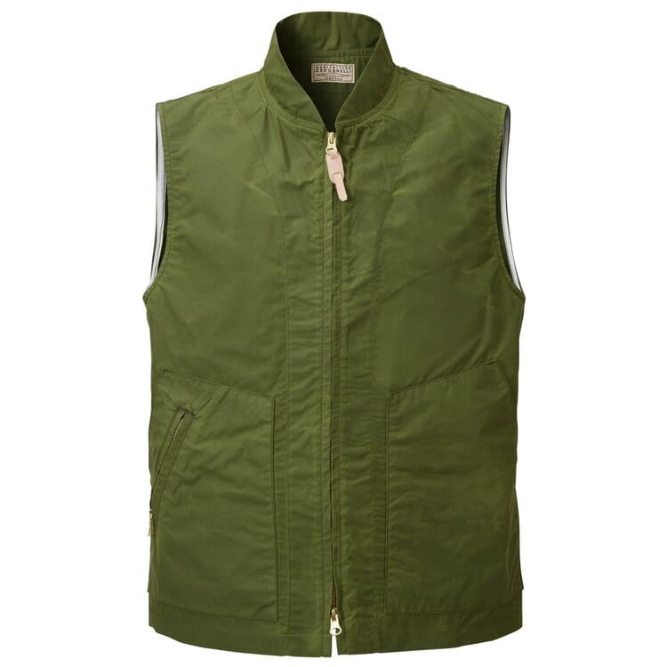 Men's Outdoor Vest Made of Unlined Cotton Fabric by Manifattura Ceccarelli