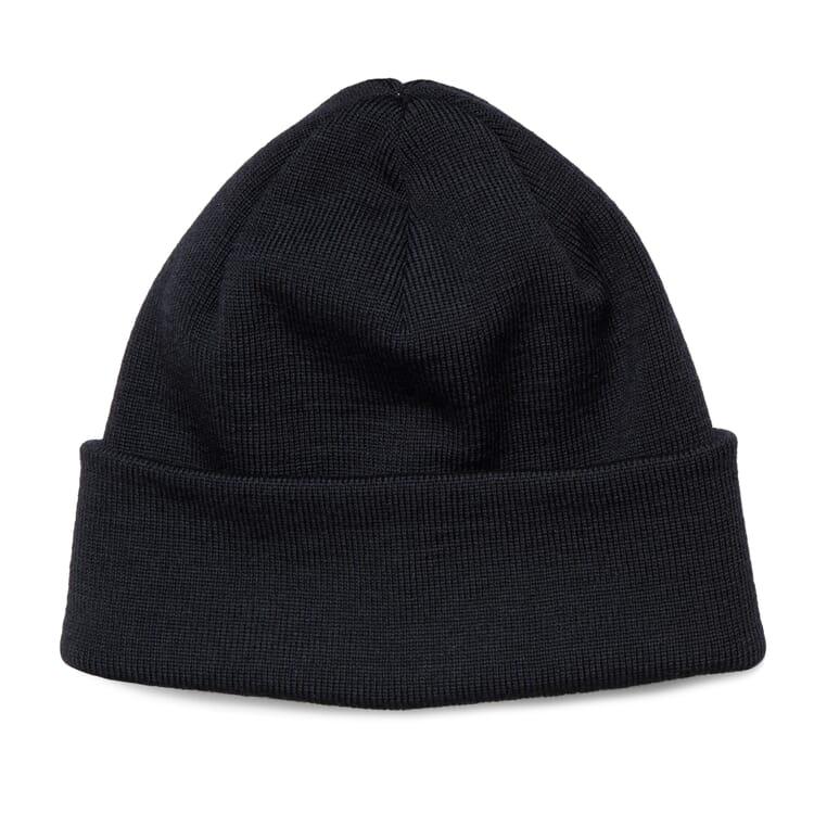 """Fine-Ribbed Knit Hat """"Baret"""", Black"""