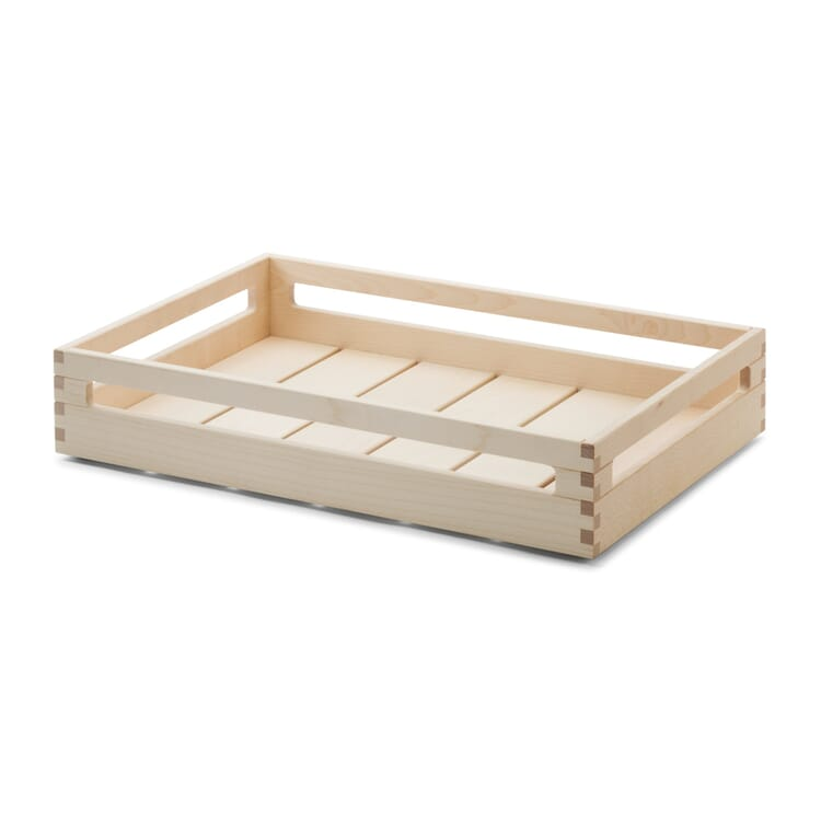 Stacking Crate Made of Maple Wood, 8 cm