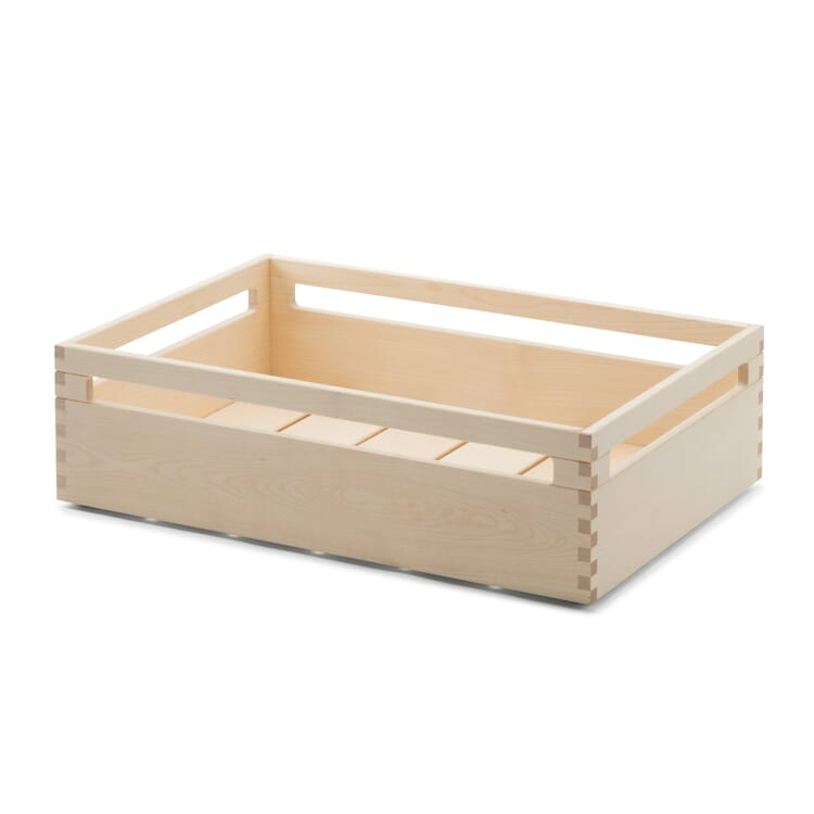 Stacking Crate Made of Maple Wood, 12 cm