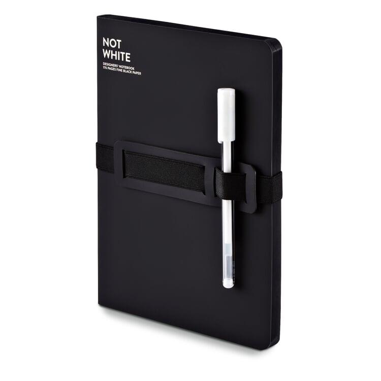 Notizbuch Not White Schwarz