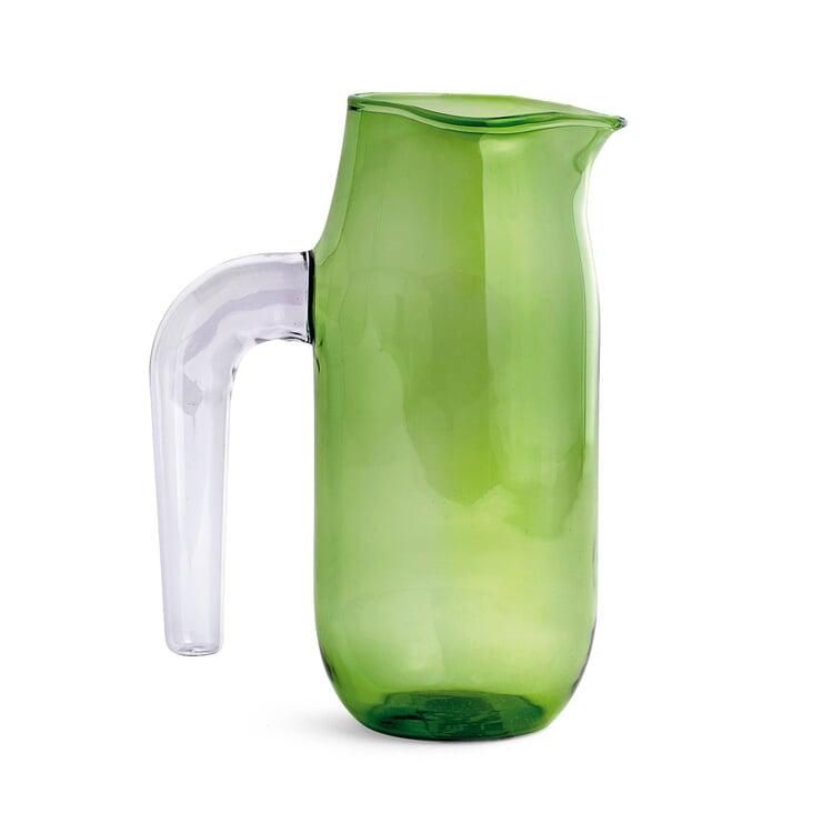 Glaskrug Jug Groß Grün / Klar