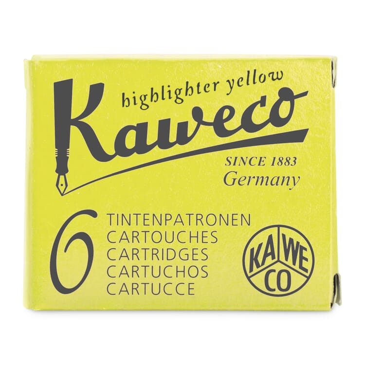 Ink cartridges for Marker Kaweco Neon Yellow