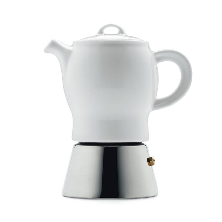 Espressokocher mit Porzellankanne