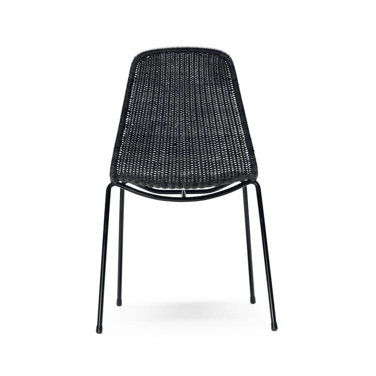 Chair Basket, Black and Dark Grey