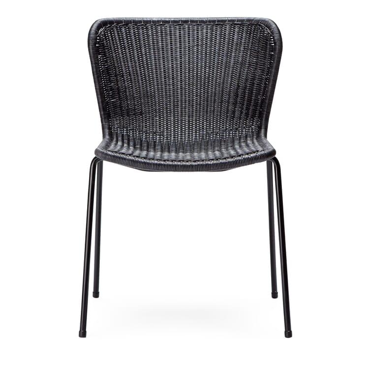 Chair C603, Black and Dark Grey