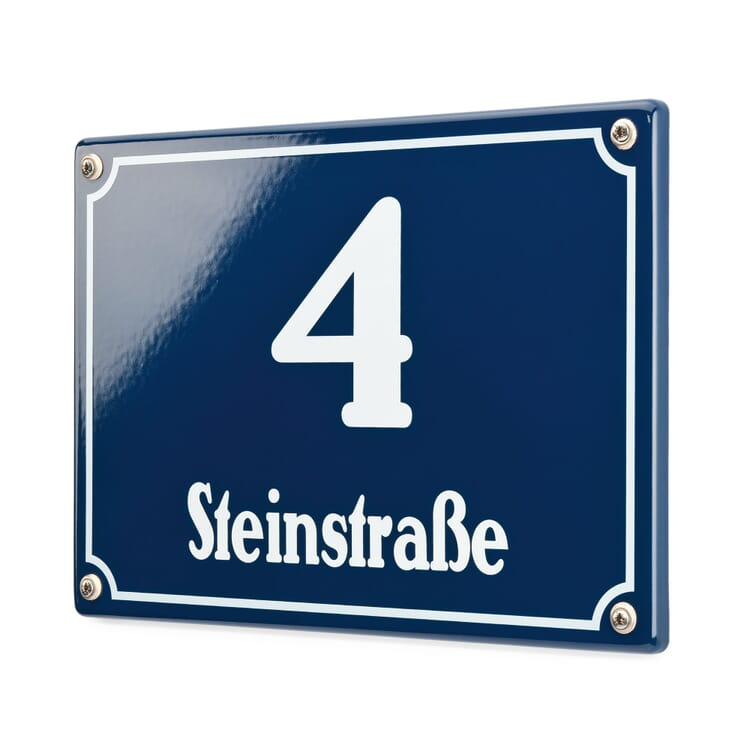 Vienna House Number Plaque Enamel by Riess