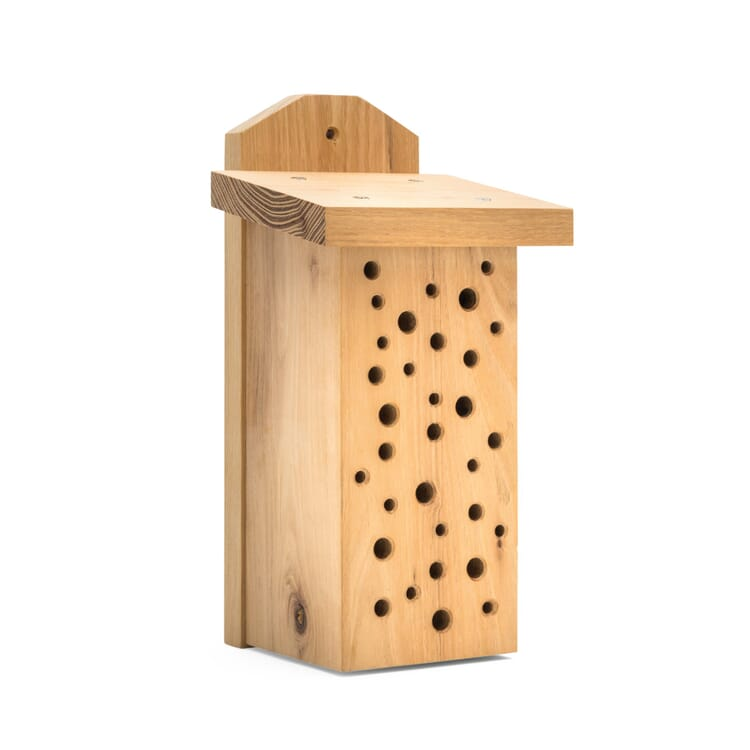 House for Wild Bees Made of Robinia Wood