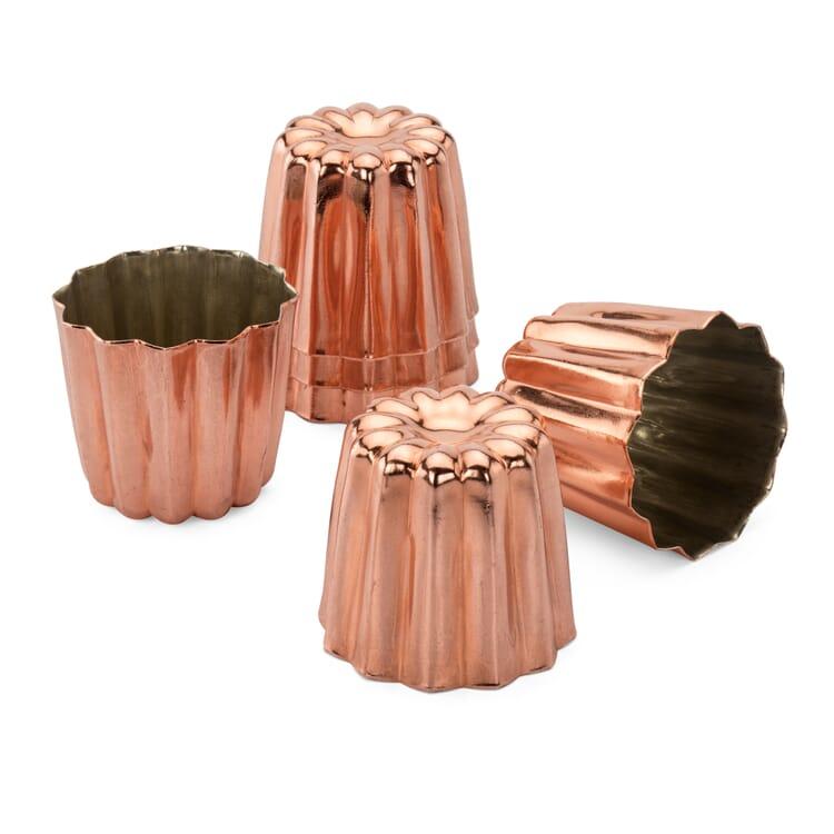 Backform Canelé Kupfer verzinnt, 6 Stück