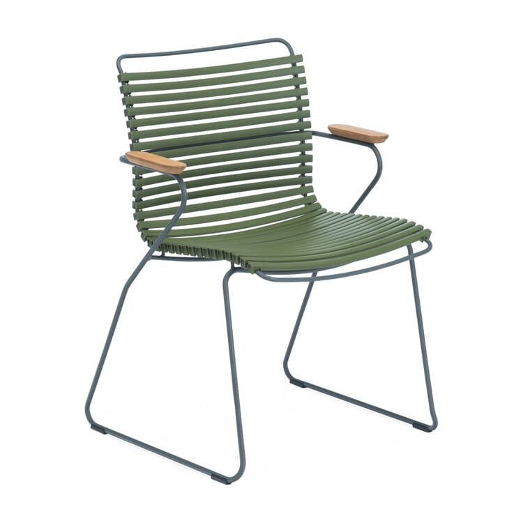 Armchair Click, Grey and Green