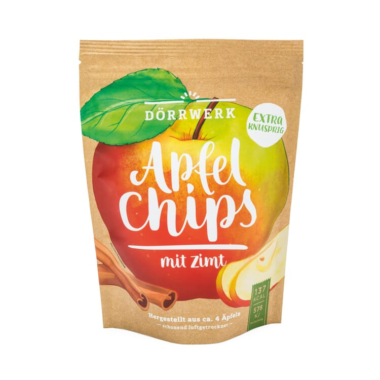 Fruit Snack Dried Apple Crisps with Cinnamon by Dörrwerk