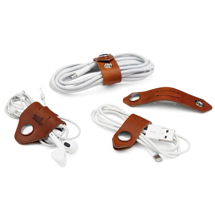 Cable-Organising Leather Straps PS
