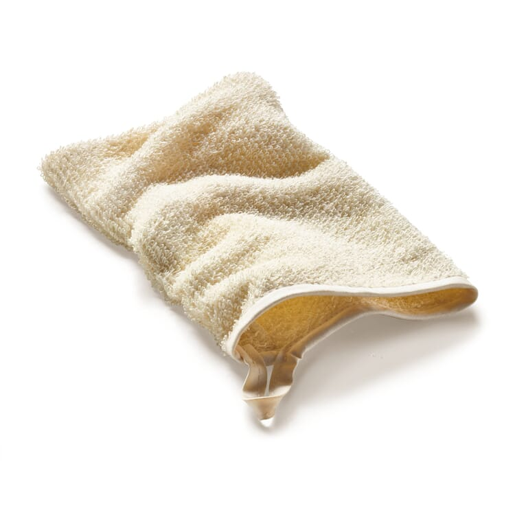 Linen Terry Washing mitt, Ecru