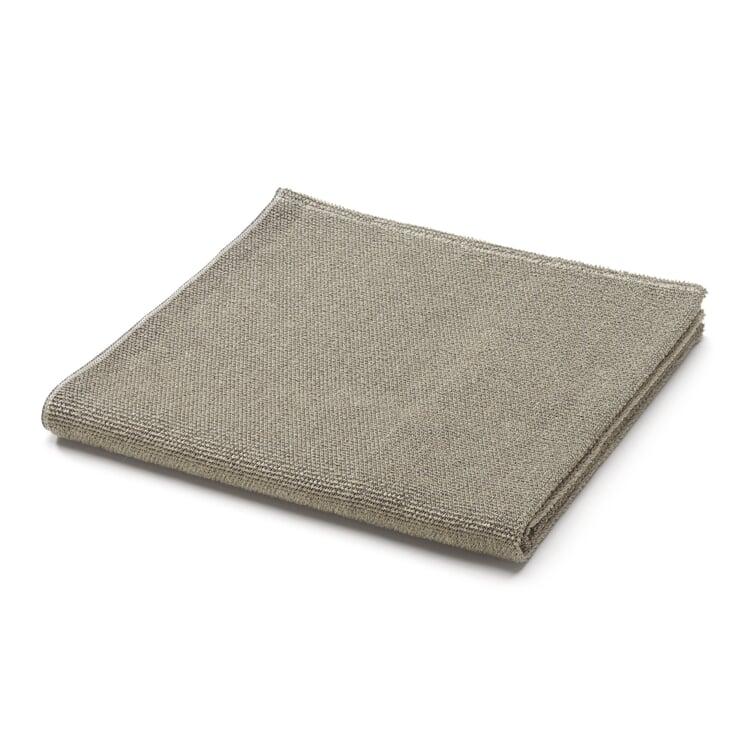 Linen Terry Shower Towel Black/Light