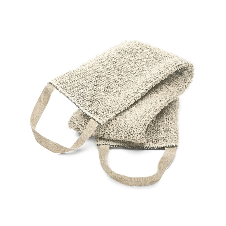 Linen Terry Back Scrubber, Light Coloured