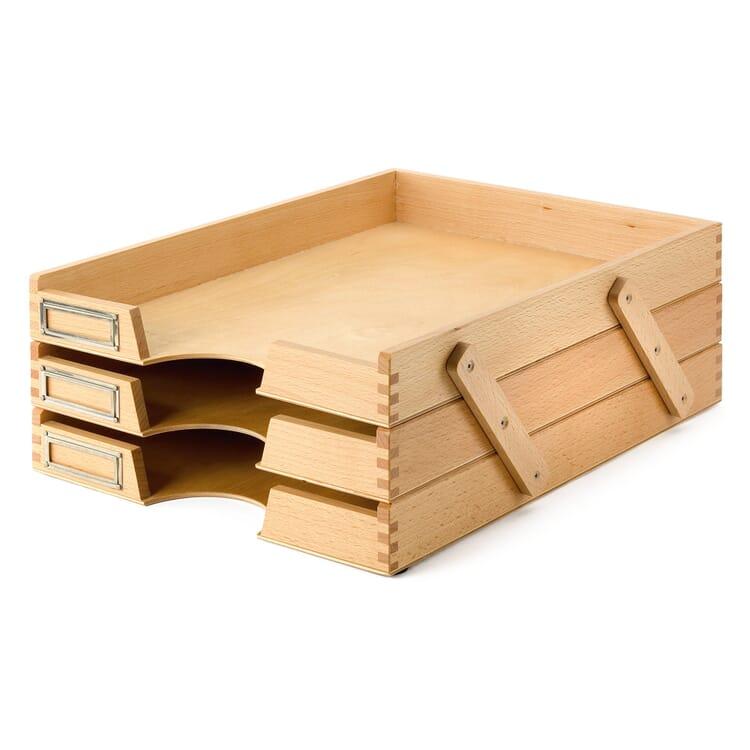 Briefkorb Buchenholz dreifach