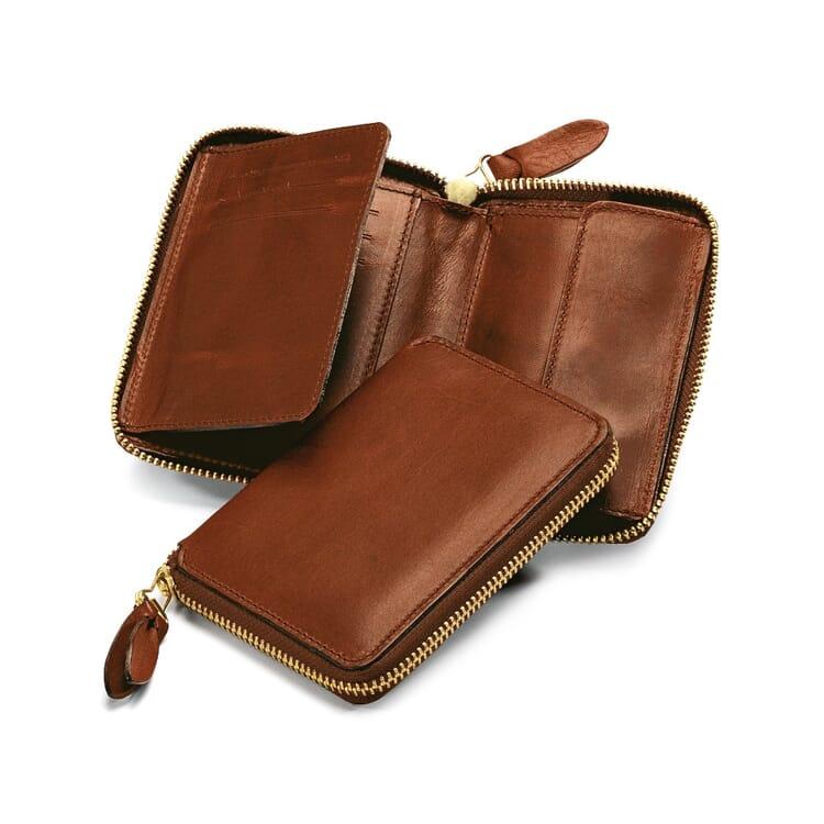 Manufactum Purse with Zipper, Brown