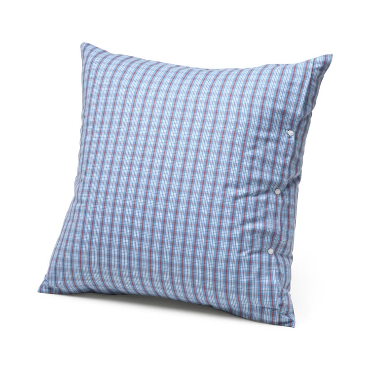 Kissenbezug Flanell Hochficht-Karo Blau 80 x 80 cm