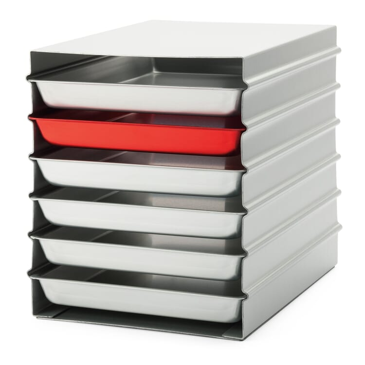 Stacked Trays Alumoule, Large