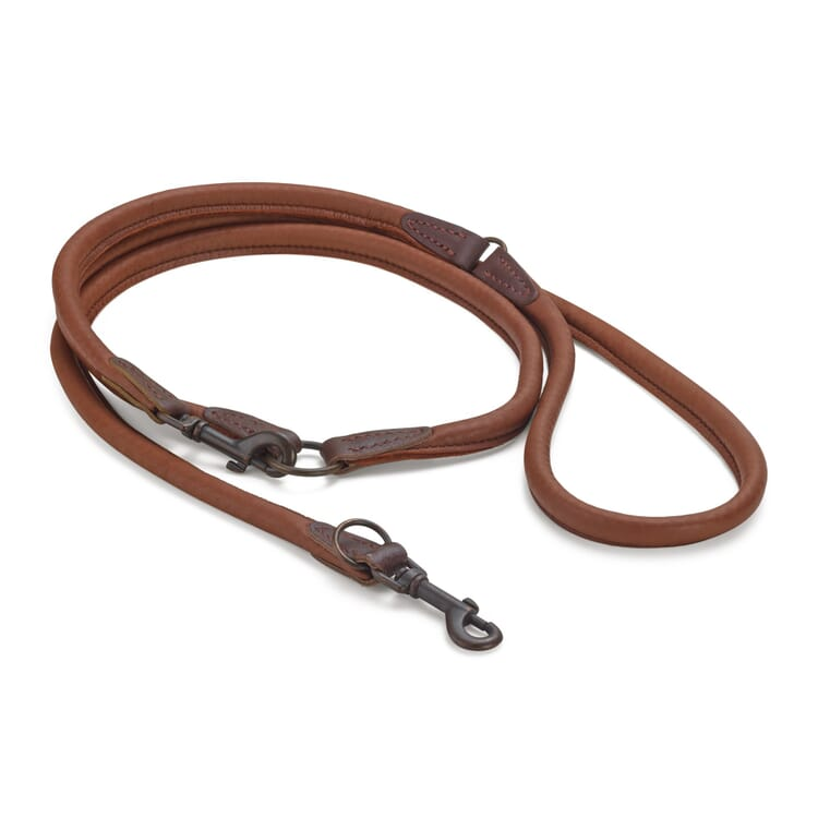 Elk leather dog lead