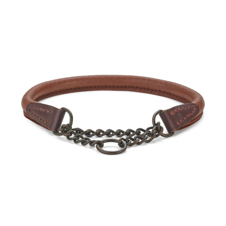 Elk leather dog collar, Neck size up to 40 cm