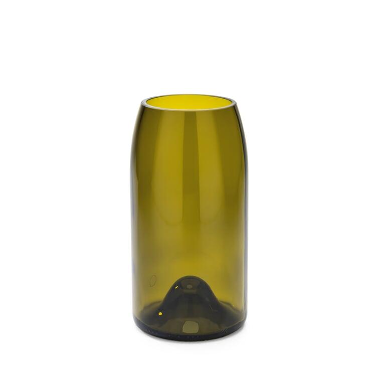 Vase Weinflasche Groß Gelbgrün